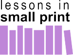 Article Icon - Lessons In Small Print